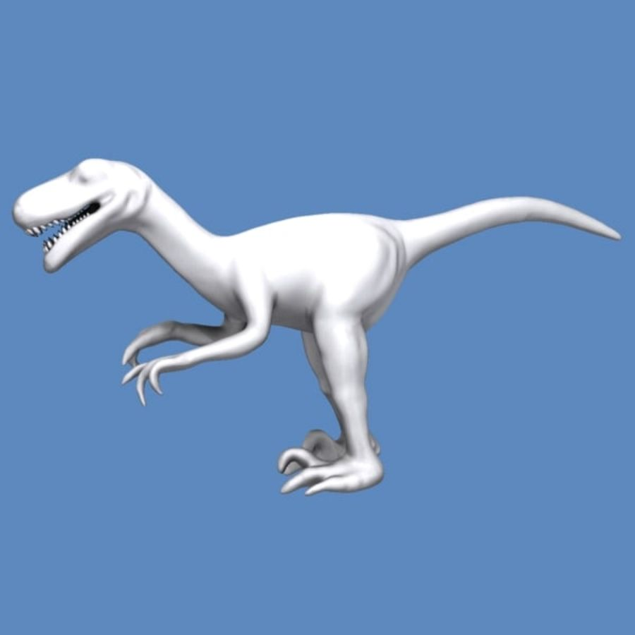 Velociraptor royalty-free 3d model - Preview no. 4