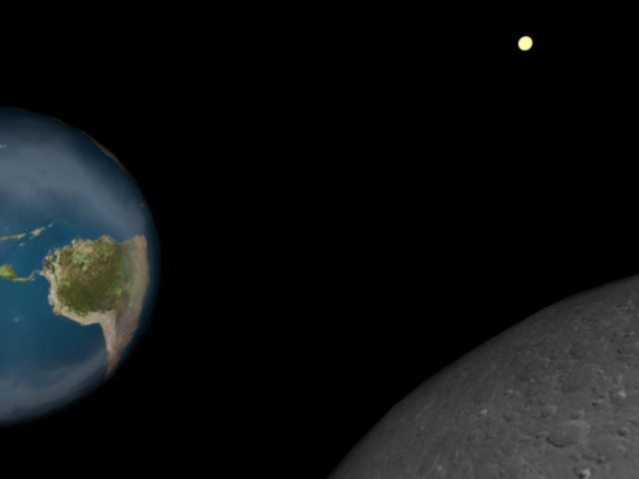 지구와 달 royalty-free 3d model - Preview no. 3