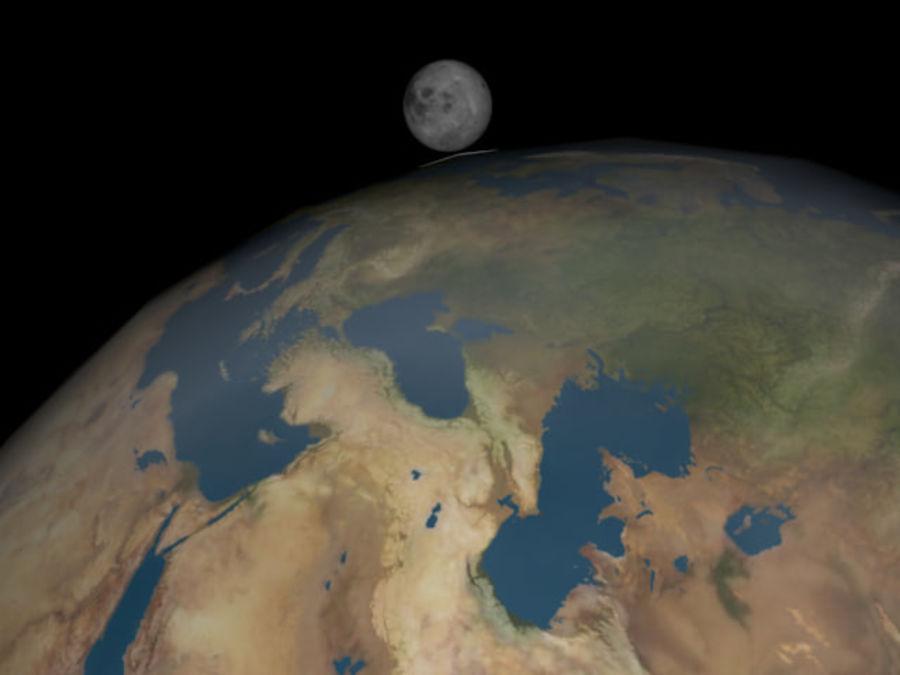 지구와 달 royalty-free 3d model - Preview no. 1