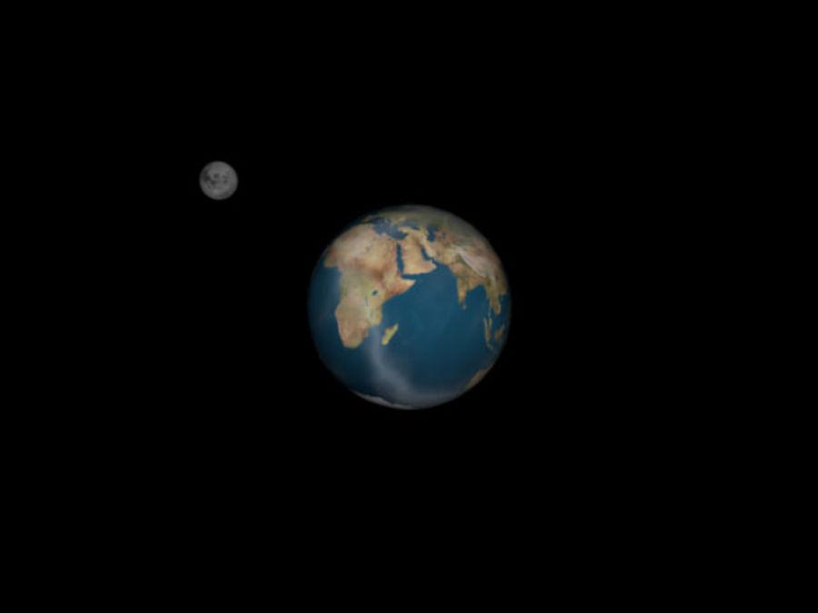 지구와 달 royalty-free 3d model - Preview no. 2