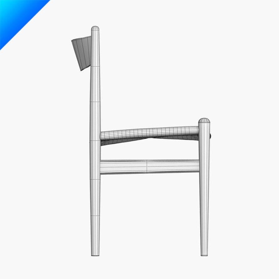 Hans Wegner CH36 Sandalye royalty-free 3d model - Preview no. 11