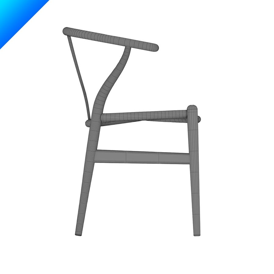 Hans Wegner Ch24 Wishbone Chair royalty-free 3d model - Preview no. 12