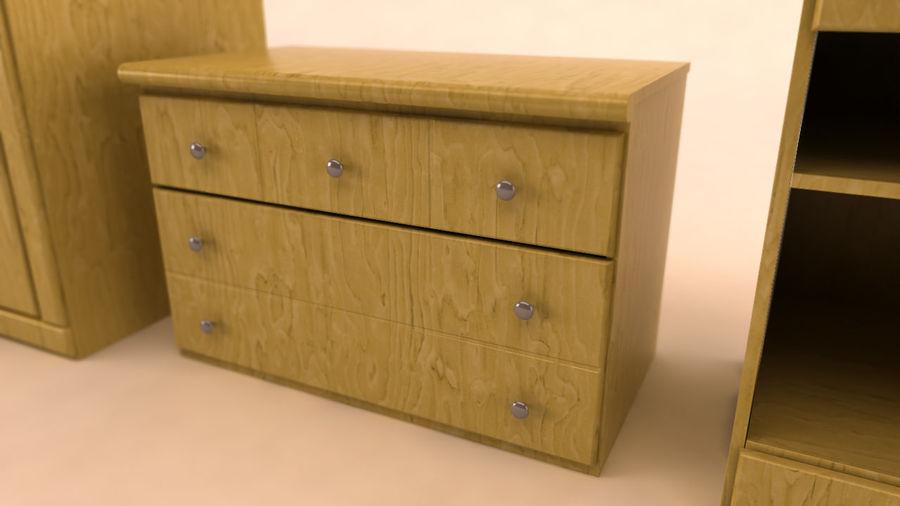 muebles de dormitorio royalty-free modelo 3d - Preview no. 5