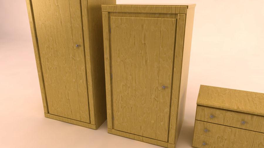 muebles de dormitorio royalty-free modelo 3d - Preview no. 6