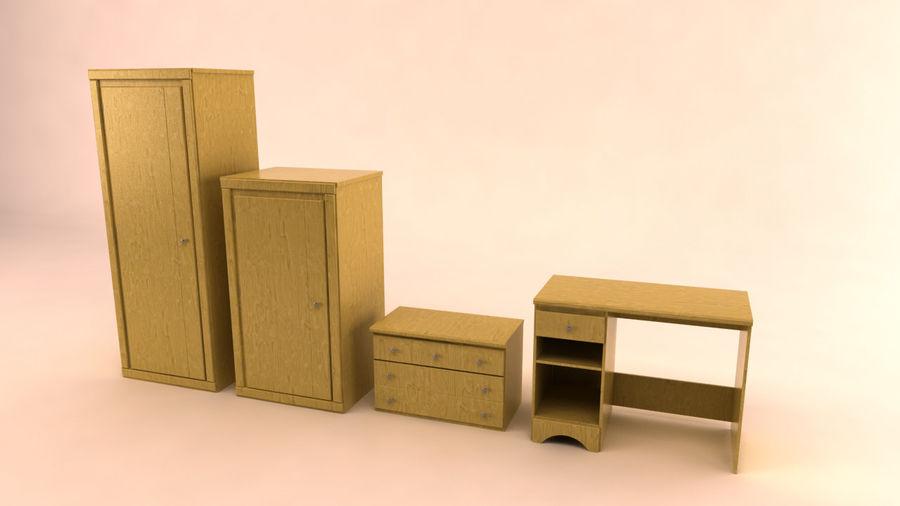 muebles de dormitorio royalty-free modelo 3d - Preview no. 1
