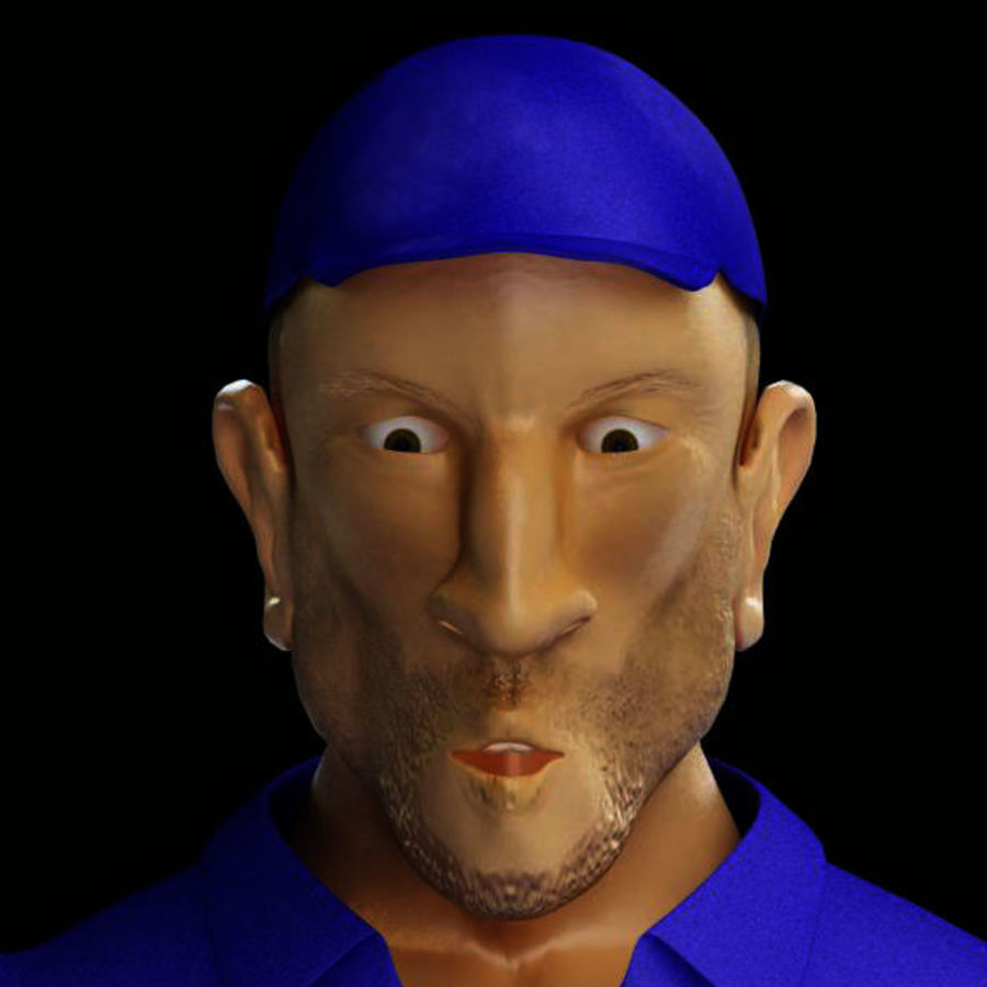Imprisoned man royalty-free 3d model - Preview no. 21