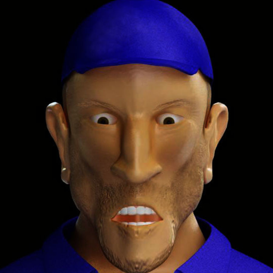 Imprisoned man royalty-free 3d model - Preview no. 19