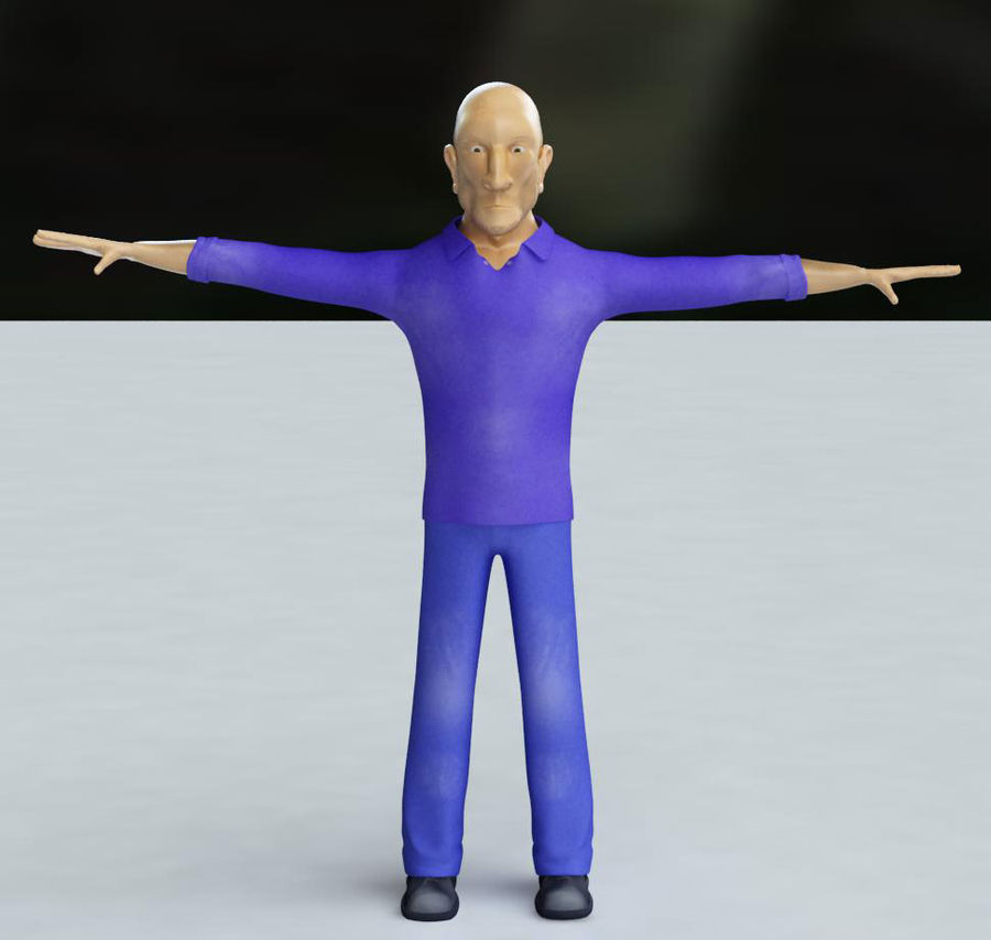 Imprisoned man royalty-free 3d model - Preview no. 18