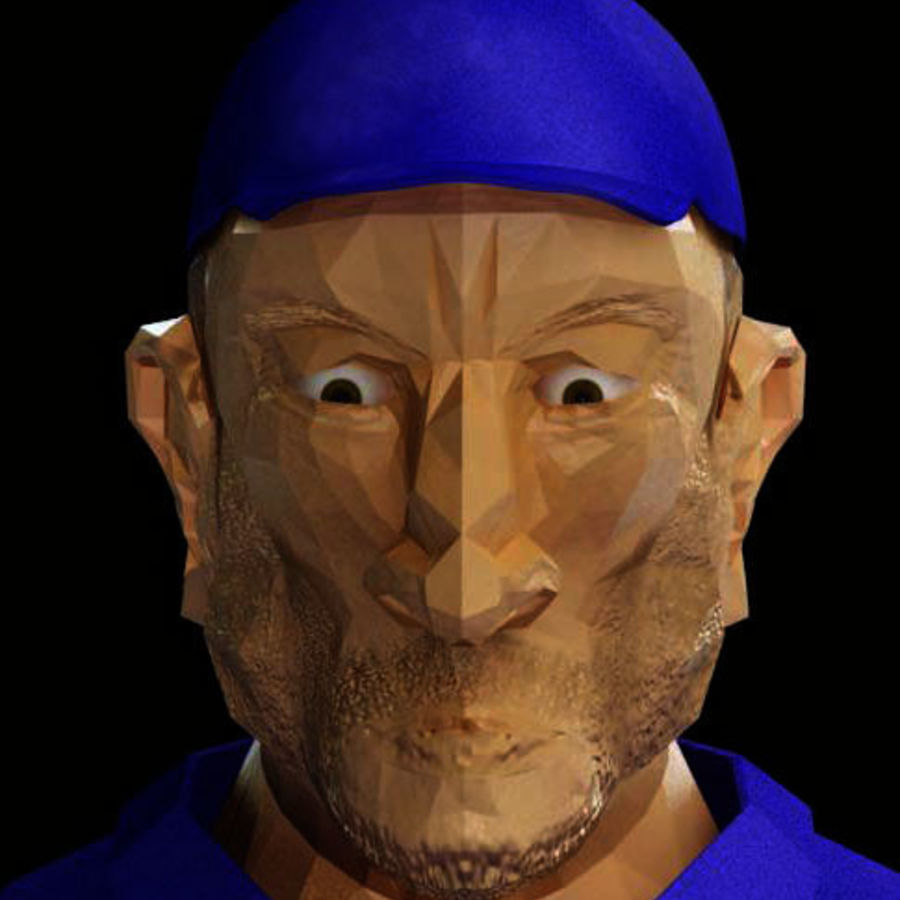 Imprisoned man royalty-free 3d model - Preview no. 2