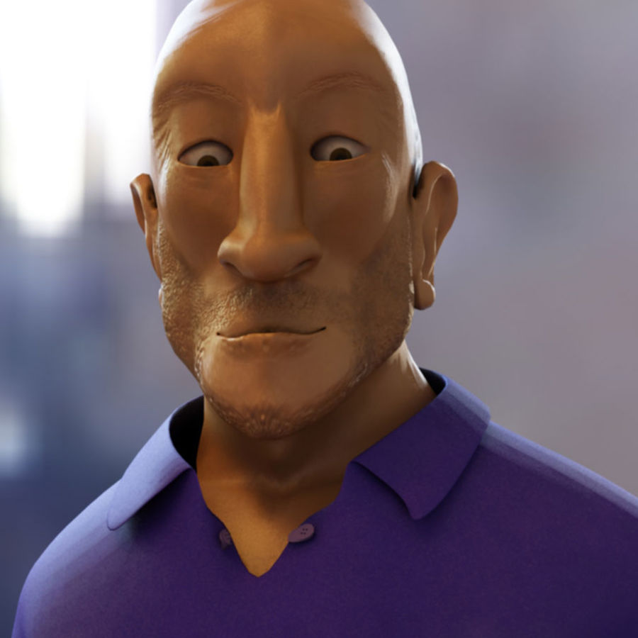 Imprisoned man royalty-free 3d model - Preview no. 1