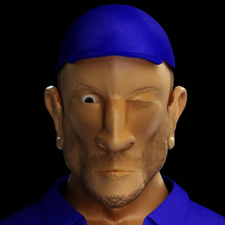 Imprisoned man royalty-free 3d model - Preview no. 24
