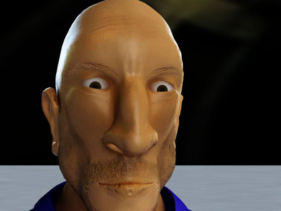Imprisoned man royalty-free 3d model - Preview no. 17