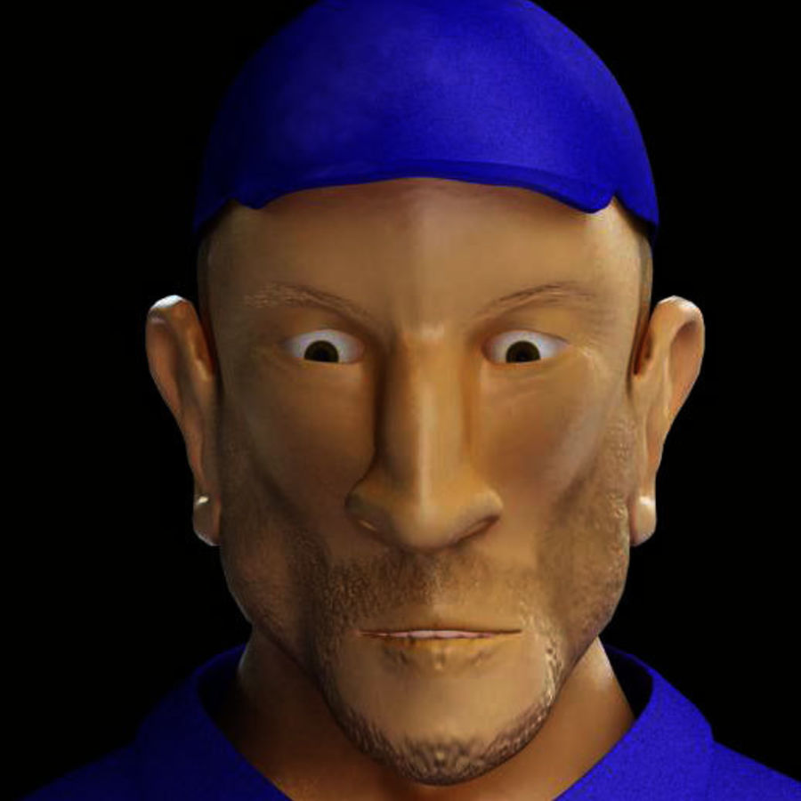 Imprisoned man royalty-free 3d model - Preview no. 12