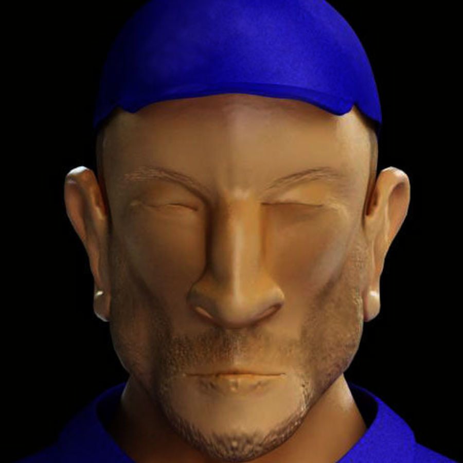 Imprisoned man royalty-free 3d model - Preview no. 22