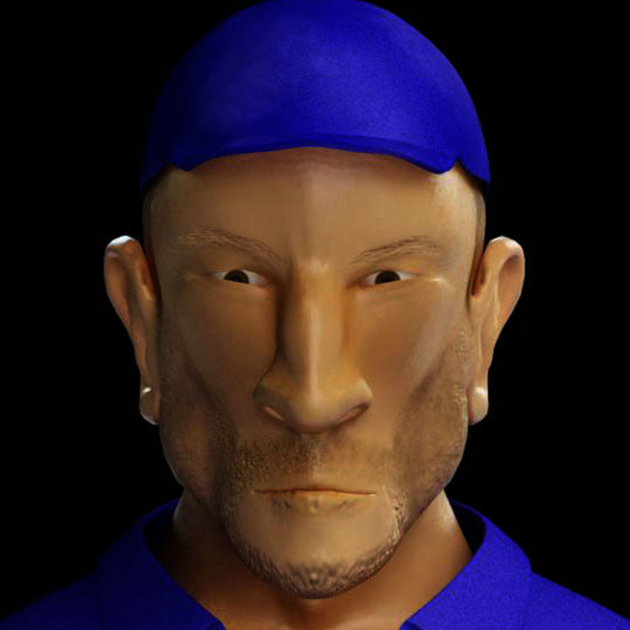 Imprisoned man royalty-free 3d model - Preview no. 5