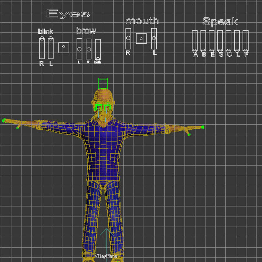 Imprisoned man royalty-free 3d model - Preview no. 26