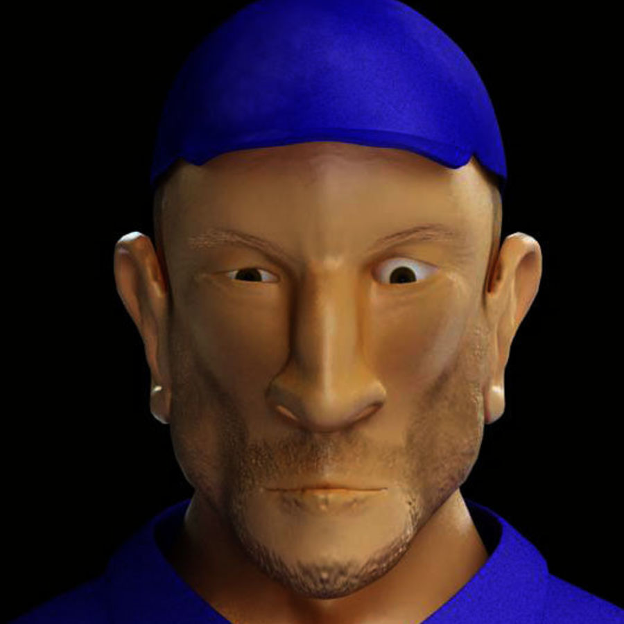 Imprisoned man royalty-free 3d model - Preview no. 23