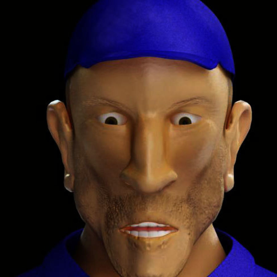 Imprisoned man royalty-free 3d model - Preview no. 20