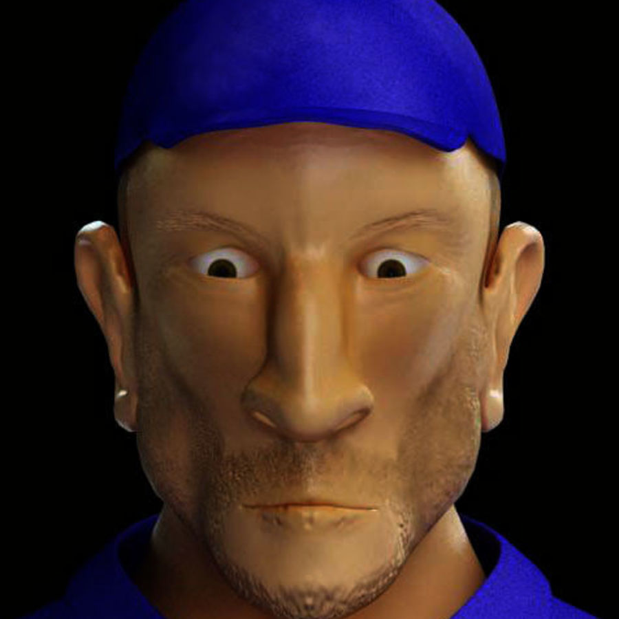 Imprisoned man royalty-free 3d model - Preview no. 6