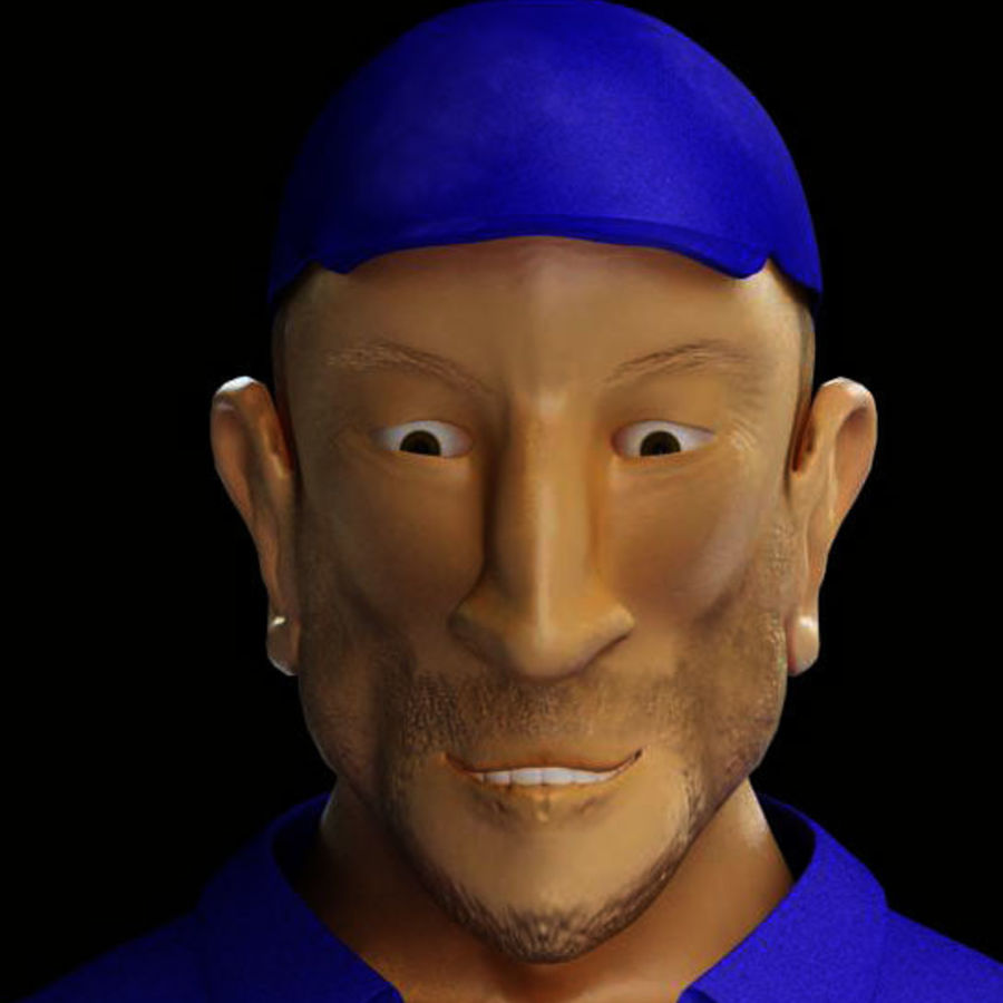 Imprisoned man royalty-free 3d model - Preview no. 10