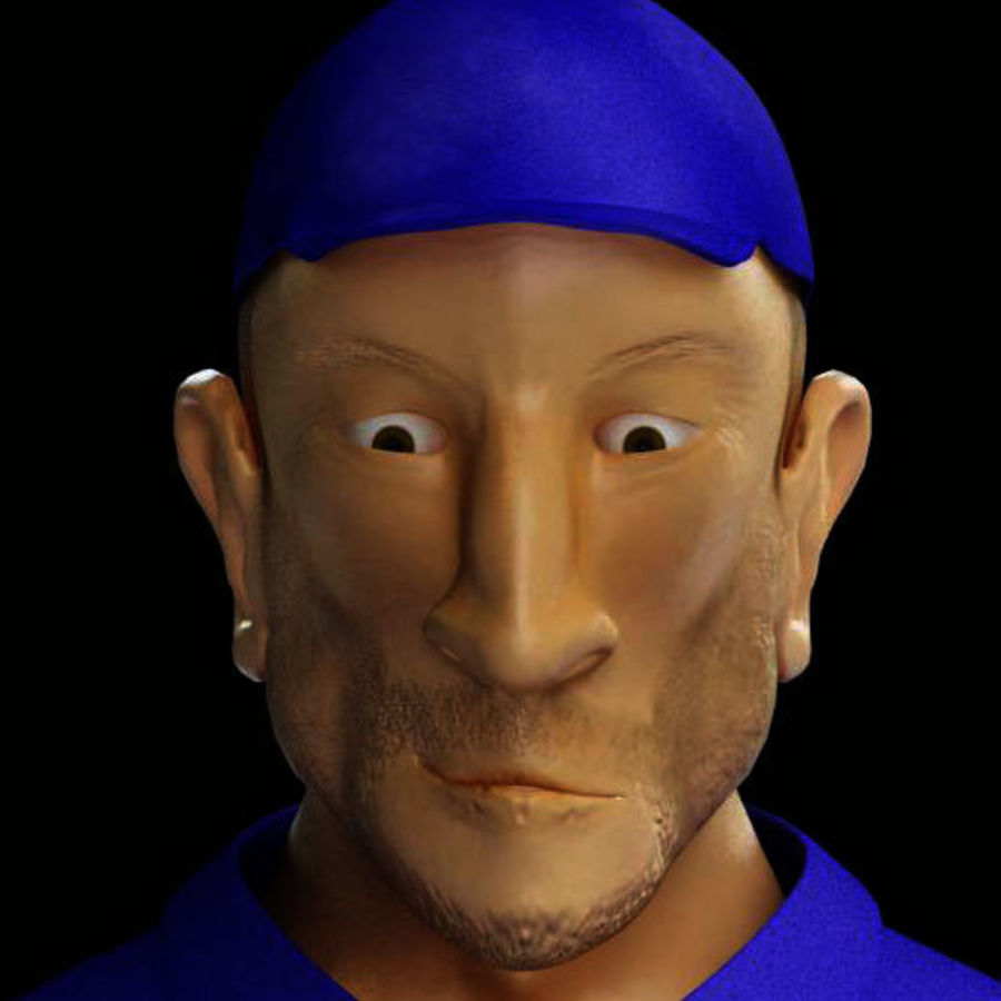 Imprisoned man royalty-free 3d model - Preview no. 8