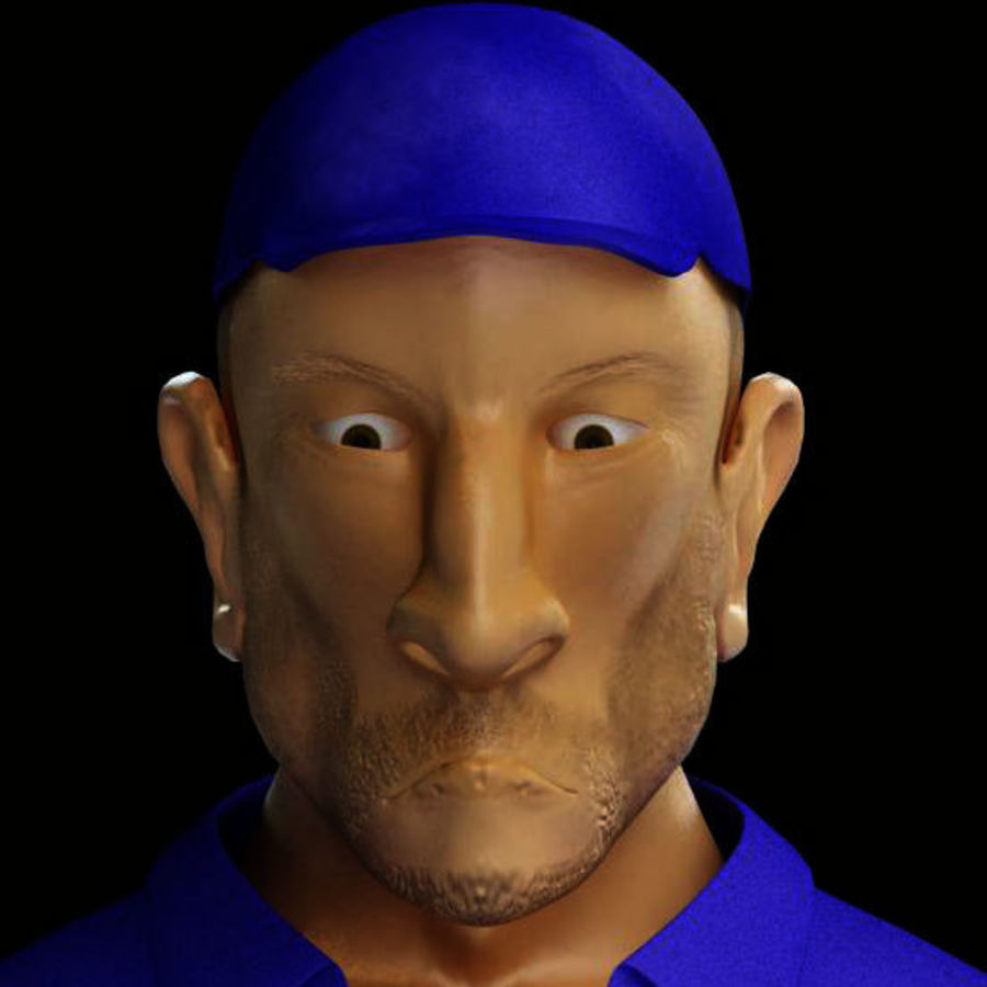 Imprisoned man royalty-free 3d model - Preview no. 11