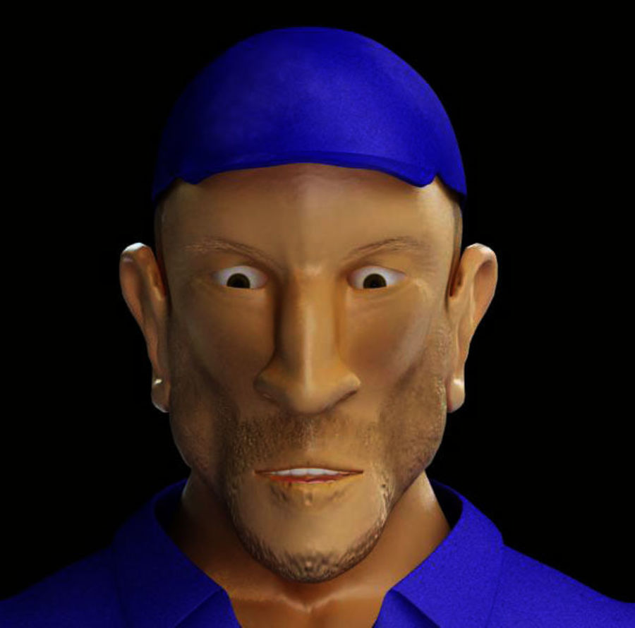 Imprisoned man royalty-free 3d model - Preview no. 15