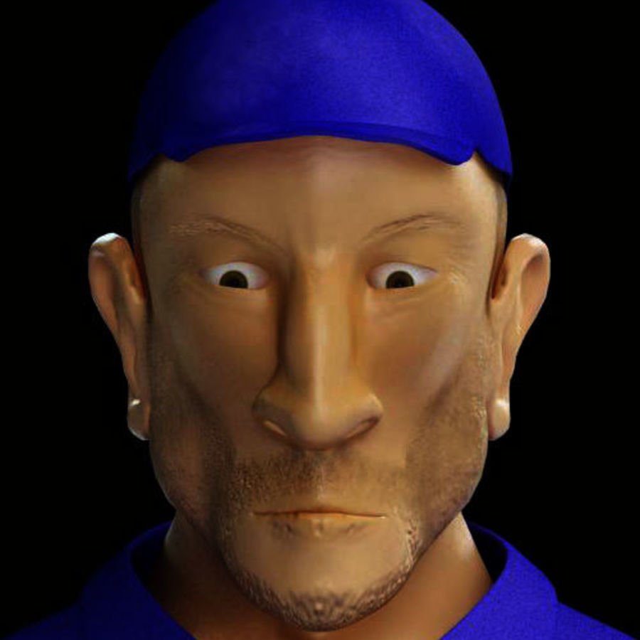 Imprisoned man royalty-free 3d model - Preview no. 3