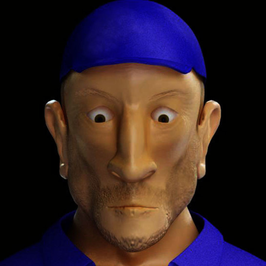 Imprisoned man royalty-free 3d model - Preview no. 4