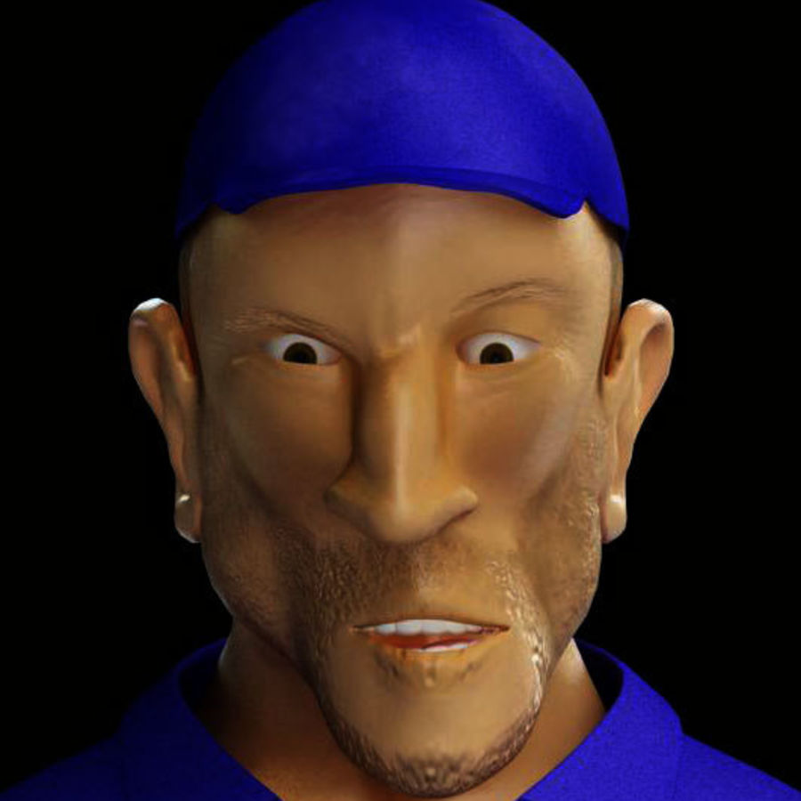 Imprisoned man royalty-free 3d model - Preview no. 13