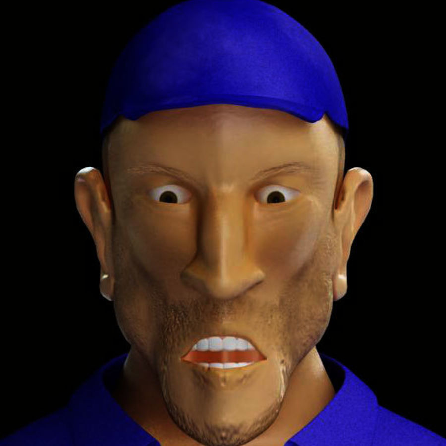 Imprisoned man royalty-free 3d model - Preview no. 16