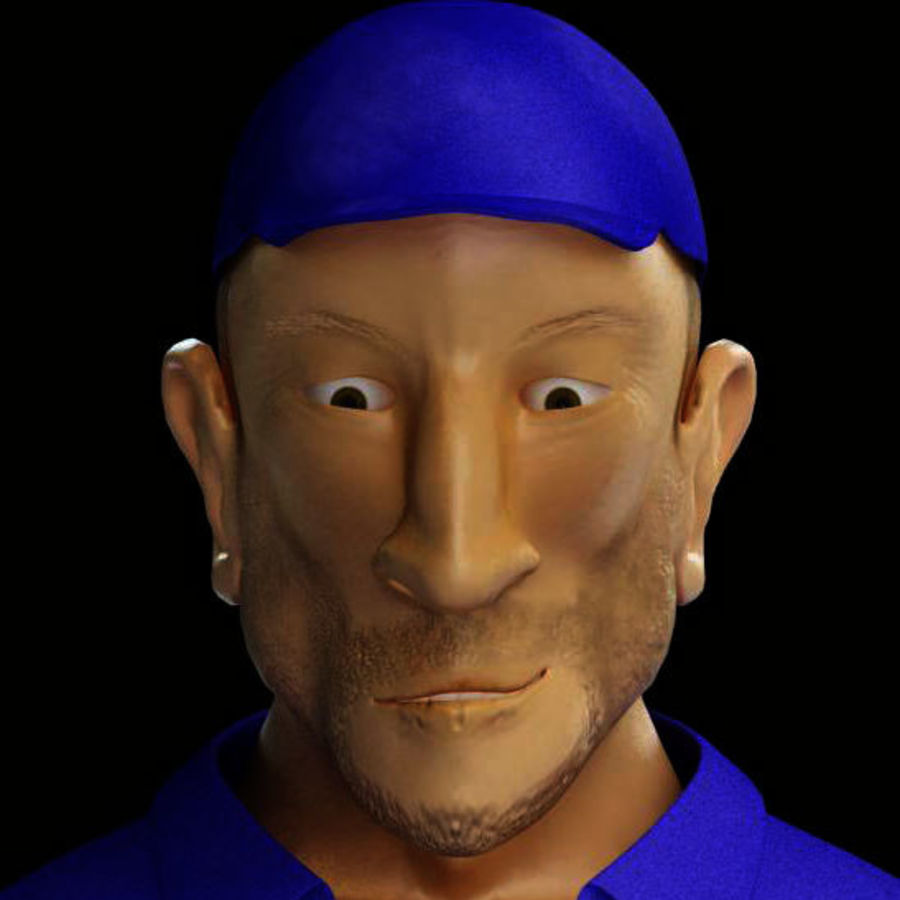 Imprisoned man royalty-free 3d model - Preview no. 9