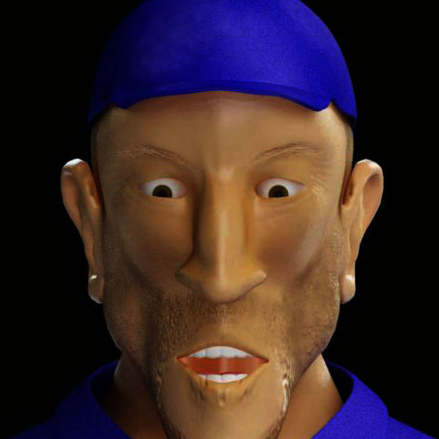 Imprisoned man royalty-free 3d model - Preview no. 7