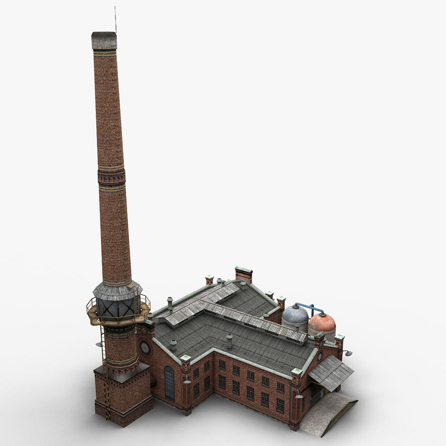Old Factory royalty-free 3d model - Preview no. 7