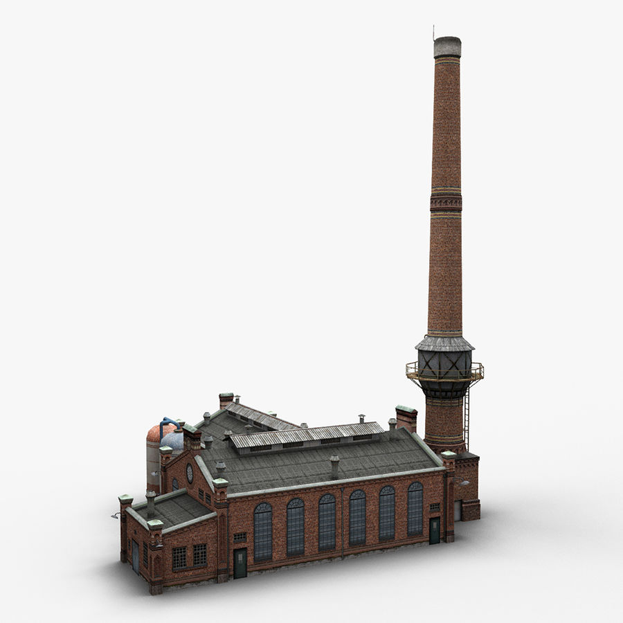 Old Factory royalty-free 3d model - Preview no. 9