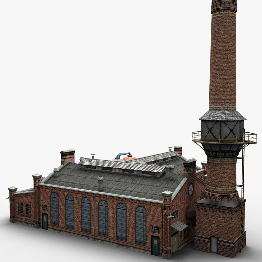 Old Factory royalty-free 3d model - Preview no. 5