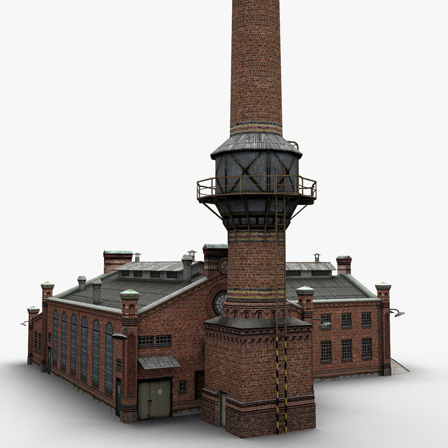 Old Factory royalty-free 3d model - Preview no. 4
