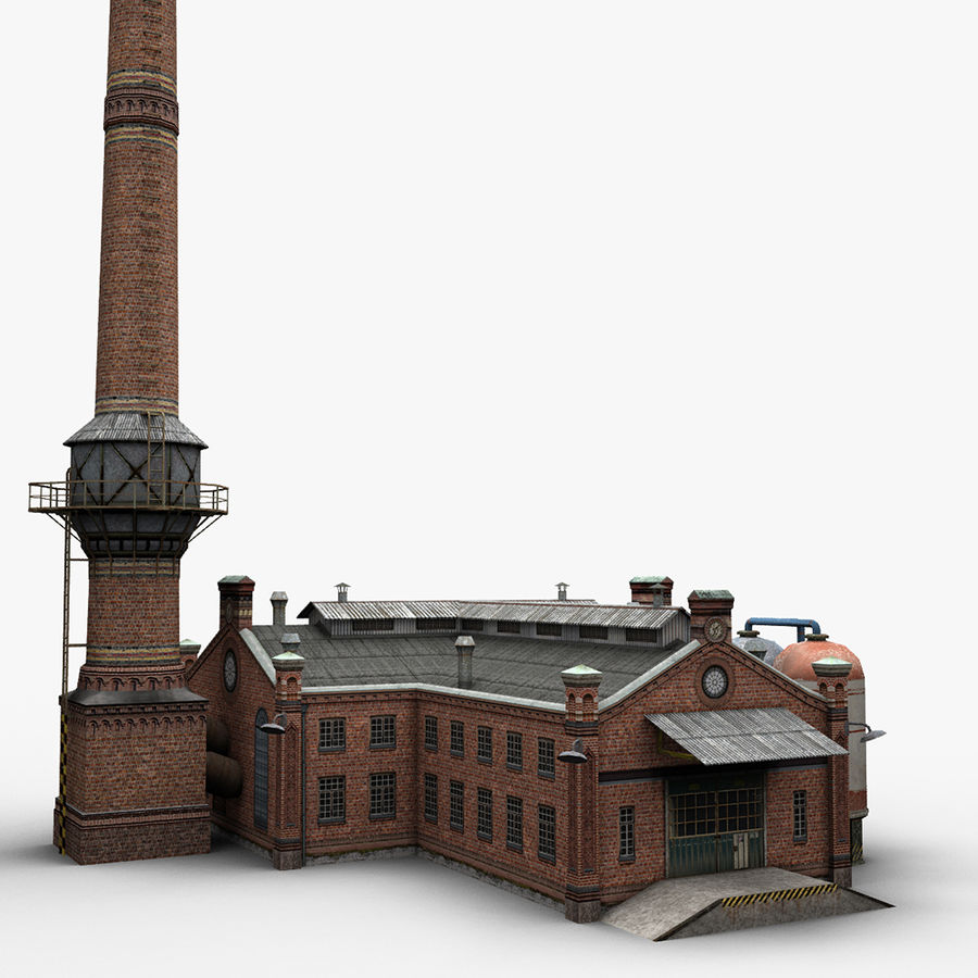 Old Factory royalty-free 3d model - Preview no. 3