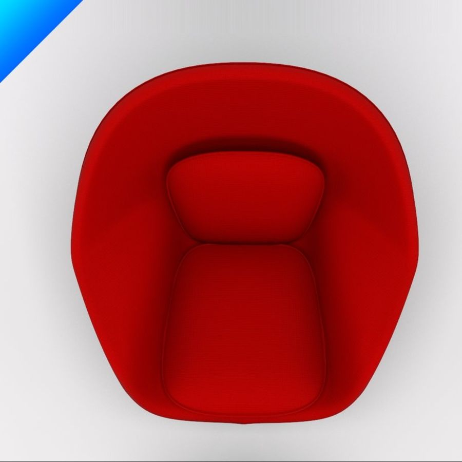 Knoll Womb Chair och ottomanska royalty-free 3d model - Preview no. 8