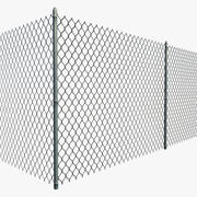 Chain Linked Fence - Modular 3d model