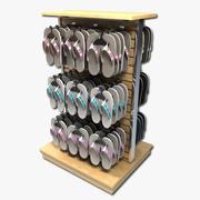 Sandals Display Rack 3d model