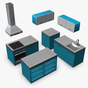 kitchen retro 3DGM 3d model