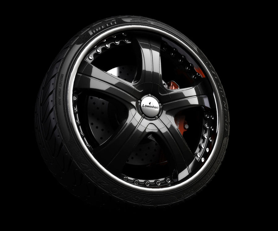 Wheel and tire royalty-free 3d model - Preview no. 1