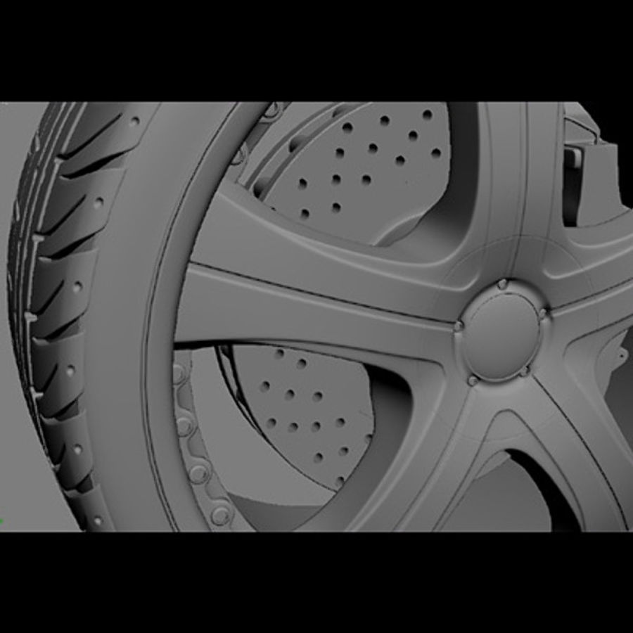 Wheel and tire royalty-free 3d model - Preview no. 4