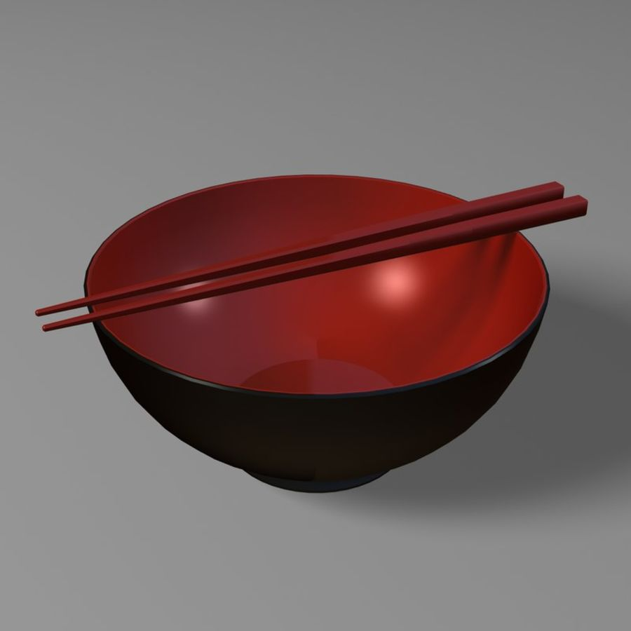 Miso Bowl royalty-free 3d model - Preview no. 2