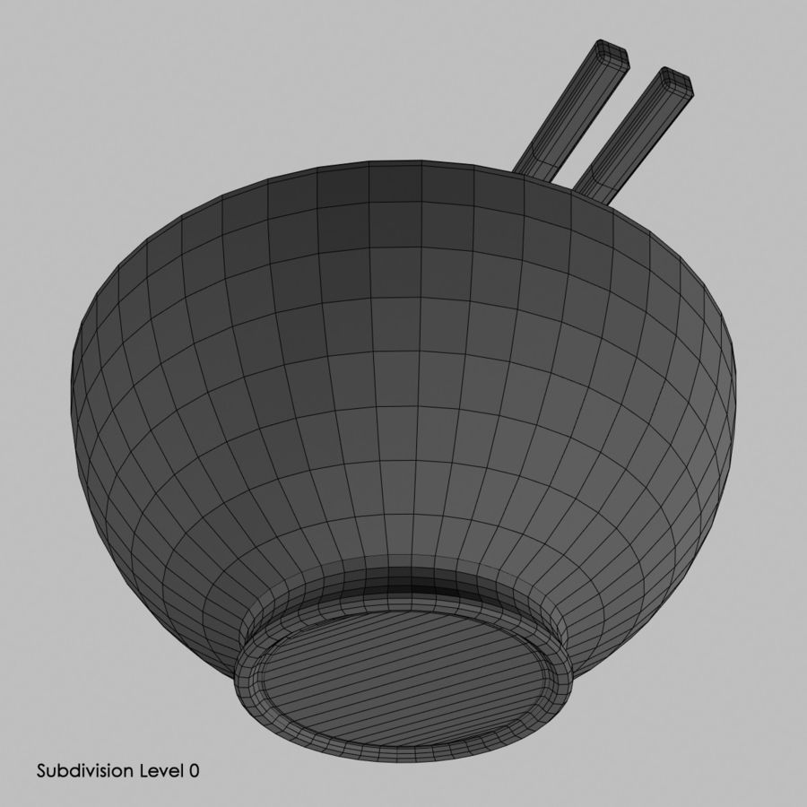 Miso Bowl royalty-free 3d model - Preview no. 8
