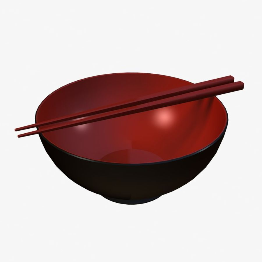 Miso Bowl royalty-free 3d model - Preview no. 1