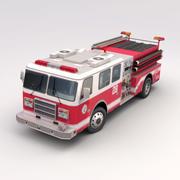 US Fire Engine 3d model
