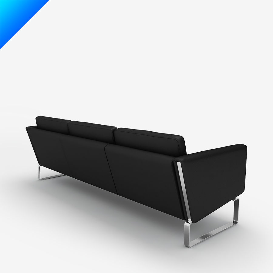 Hans Wegner CH103 Lounge Chair royalty-free 3d model - Preview no. 7