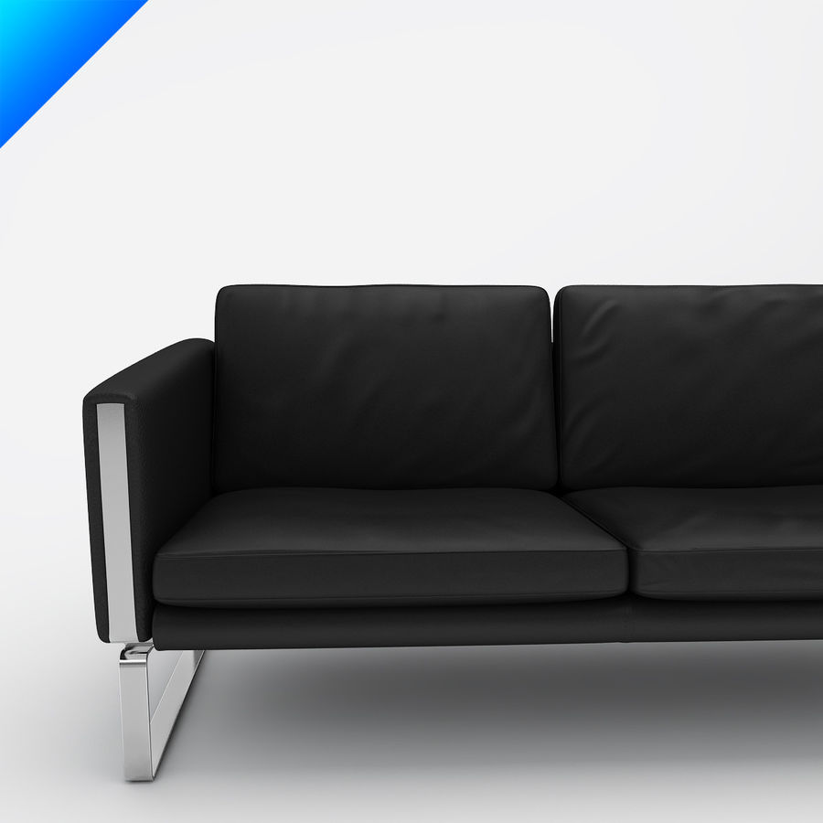 Hans Wegner CH103 Lounge Chair royalty-free 3d model - Preview no. 4